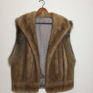 Jackets & Blazers - Mink with Fox trim fur vest